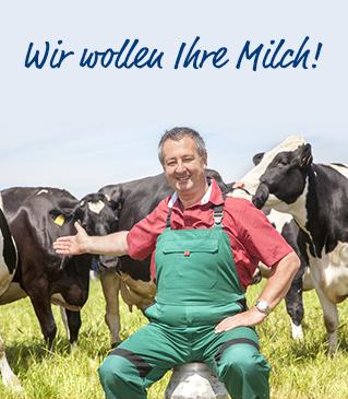 Wir wollen Ihre Milch